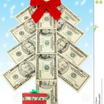 Money Christmas Tree And Gift Stock Image Image Of Present Holidays 1472187
