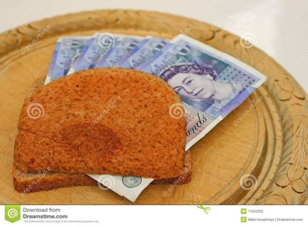 Money Crust Sandwich Stock Photography Image 11652052