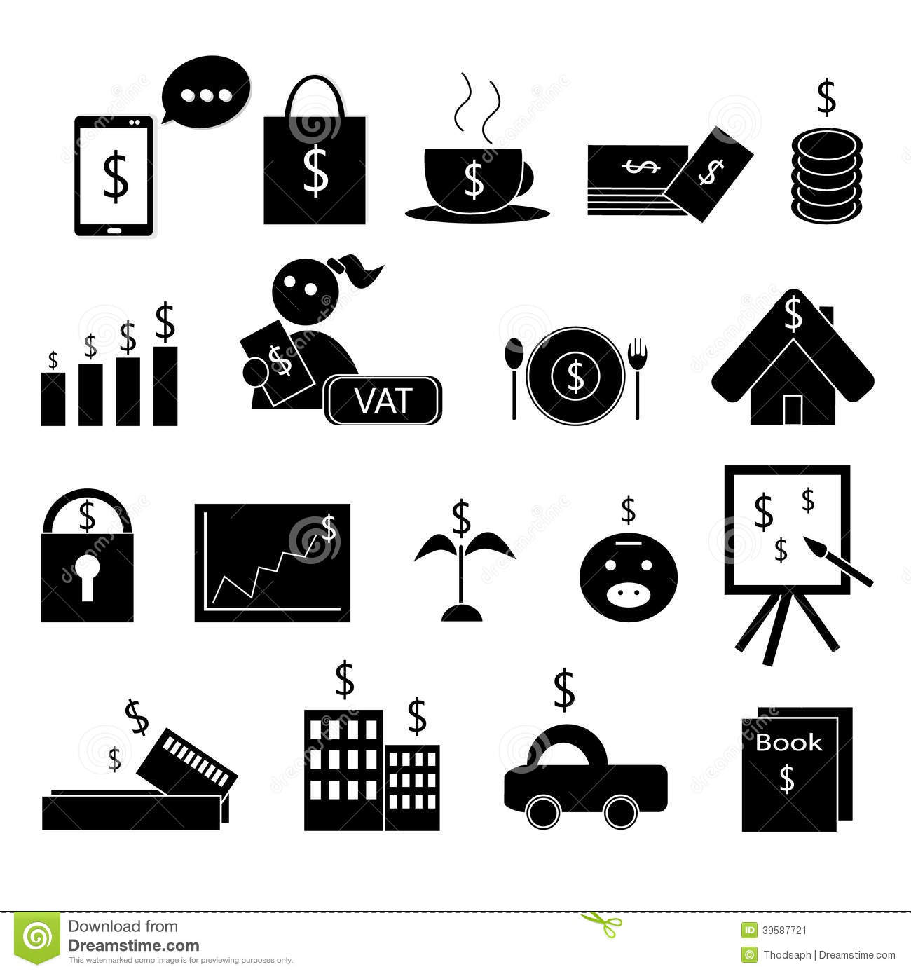 Money management stock vector. Illustration of charges