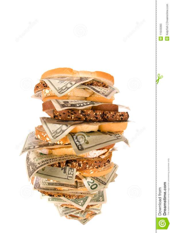 Money sandwich stock image Image of vertical pile wheat