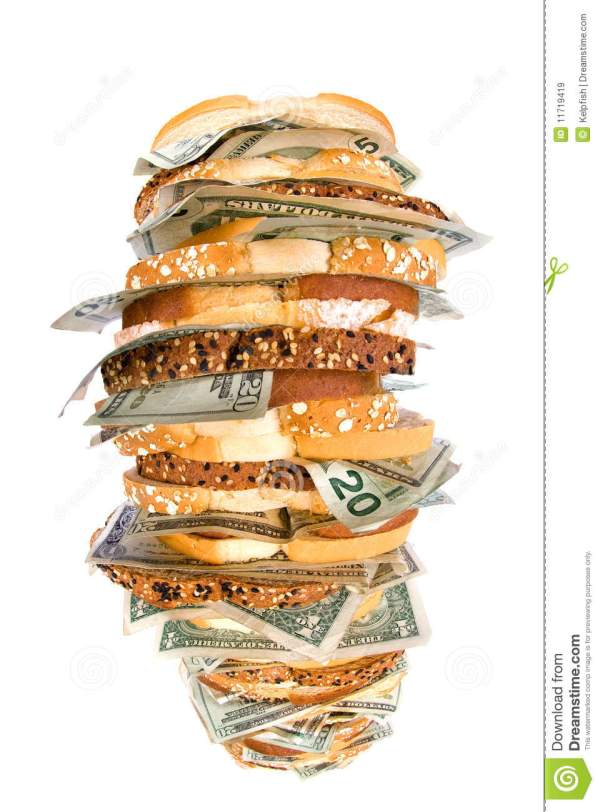 Money Sandwich Royalty Free Stock Images Image 11719419