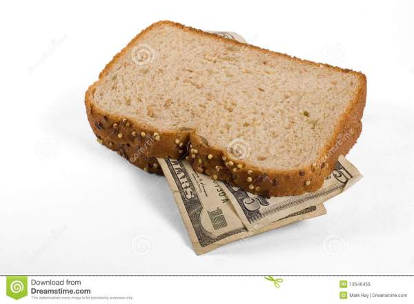 Money Sandwich Royalty Free Stock Photo Image 13540455
