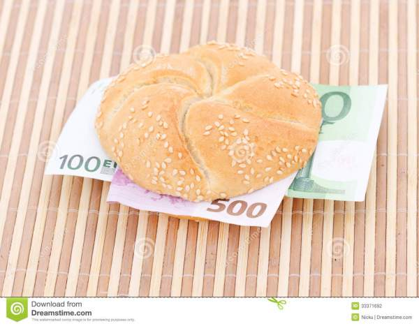 Money sandwich stock photo Image of financial eating