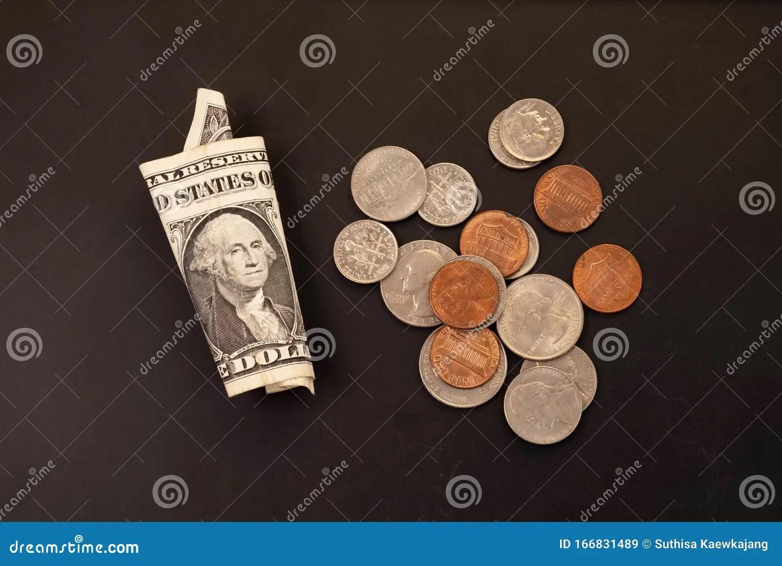 Penny Nickel Dime Quarter Stock Photos