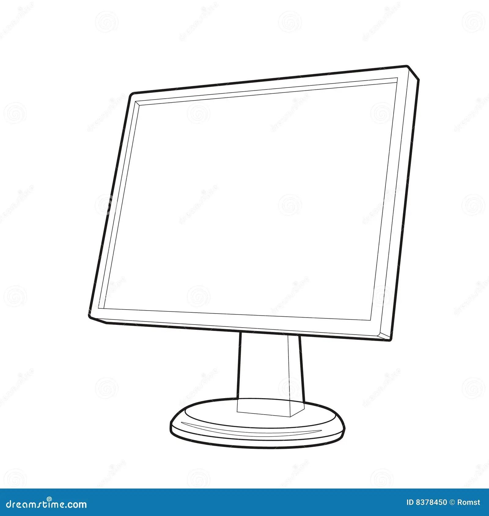 Monitor Prospect Line Stock Vector Illustration Of