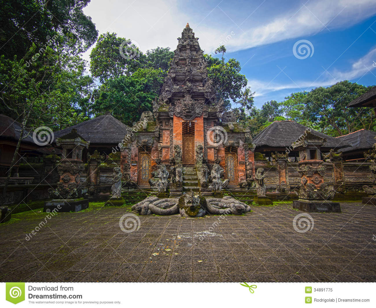 Monkey Forest Temple In Ubud, Bali Royalty Free Stock
