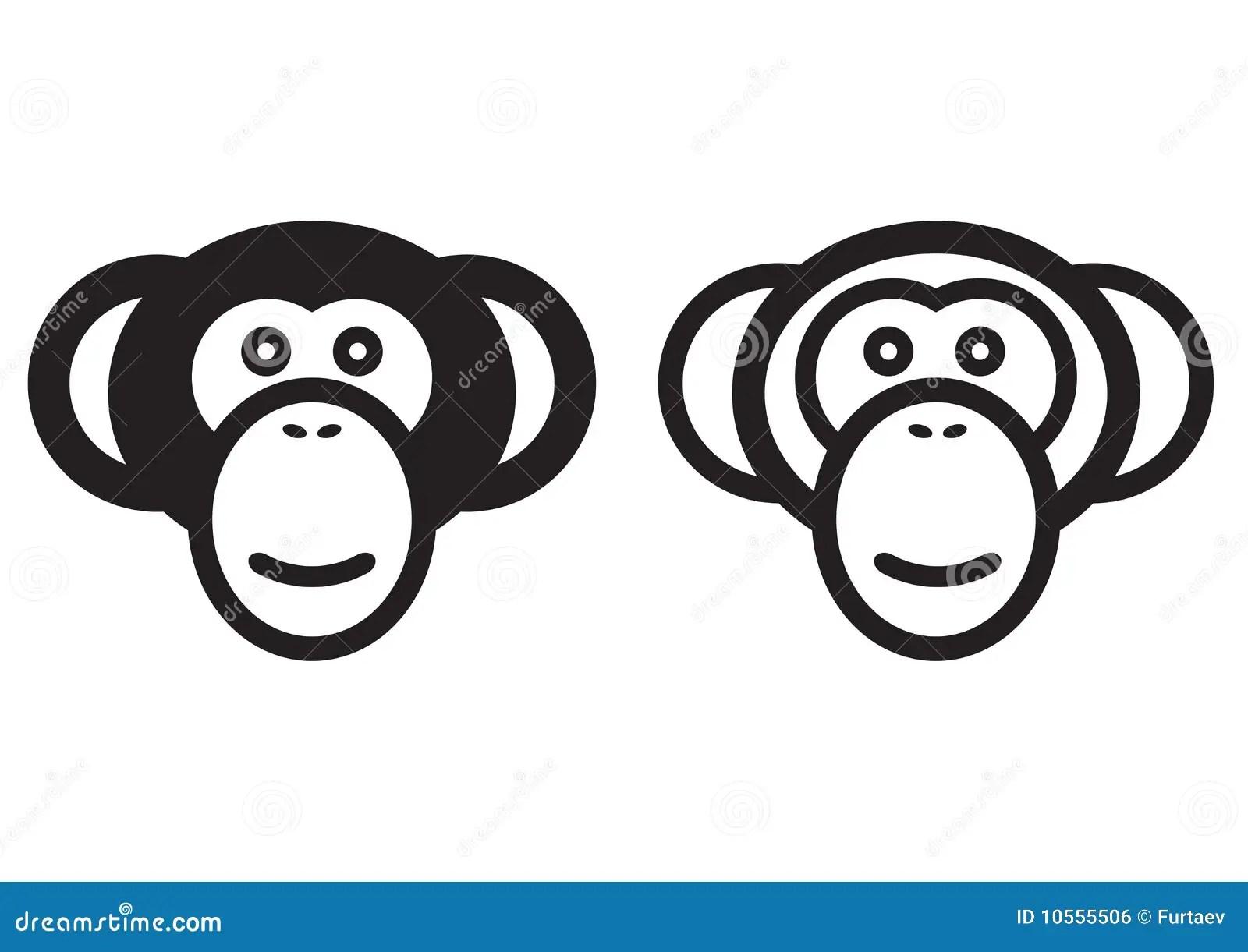 Monkey Sign Stock Vector Illustration Of Clipart Baboon