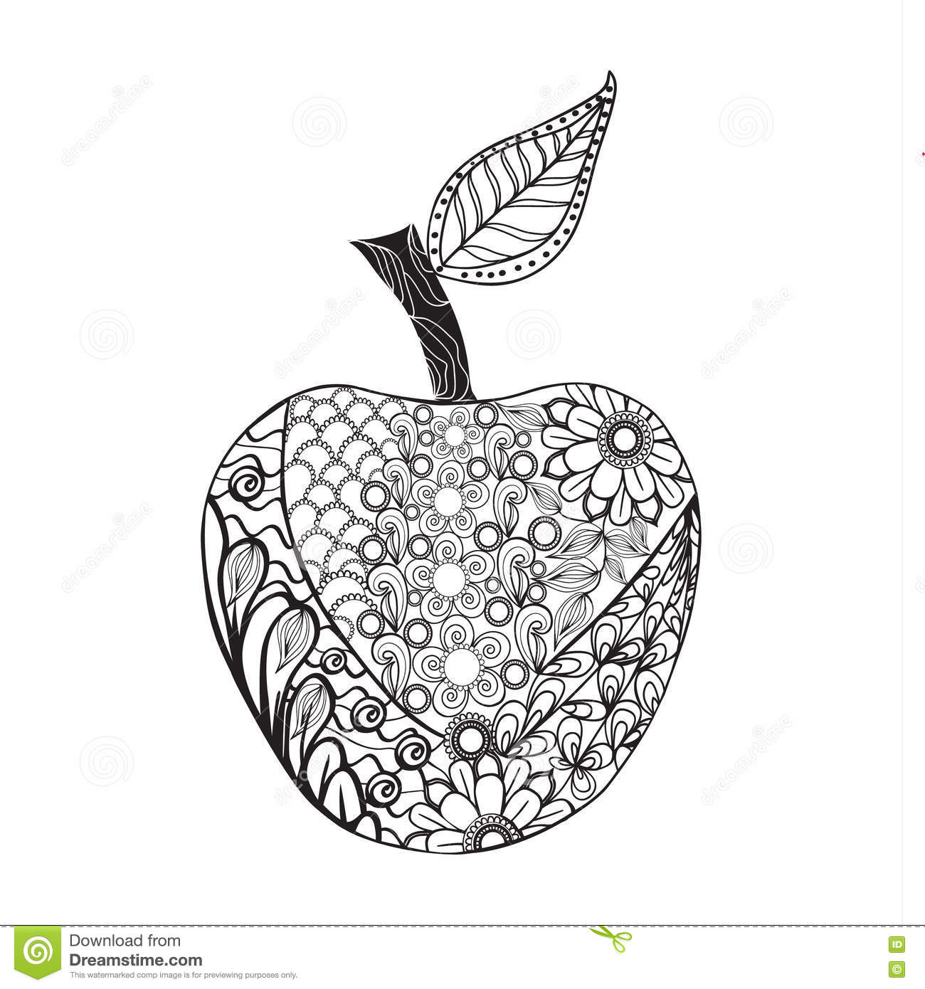 Apple Tree Coloring Pages Printable Sketch Coloring Page