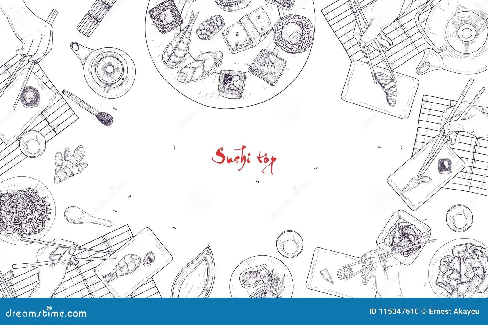Japanese Sushi Stock Illustrations 9 682 Japanese Sushi