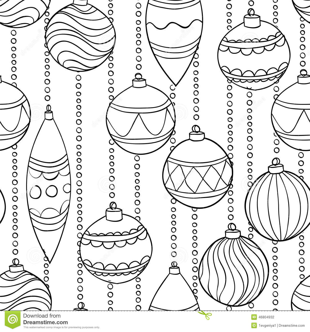 Monochrome, Black And White Seamless Pattern With