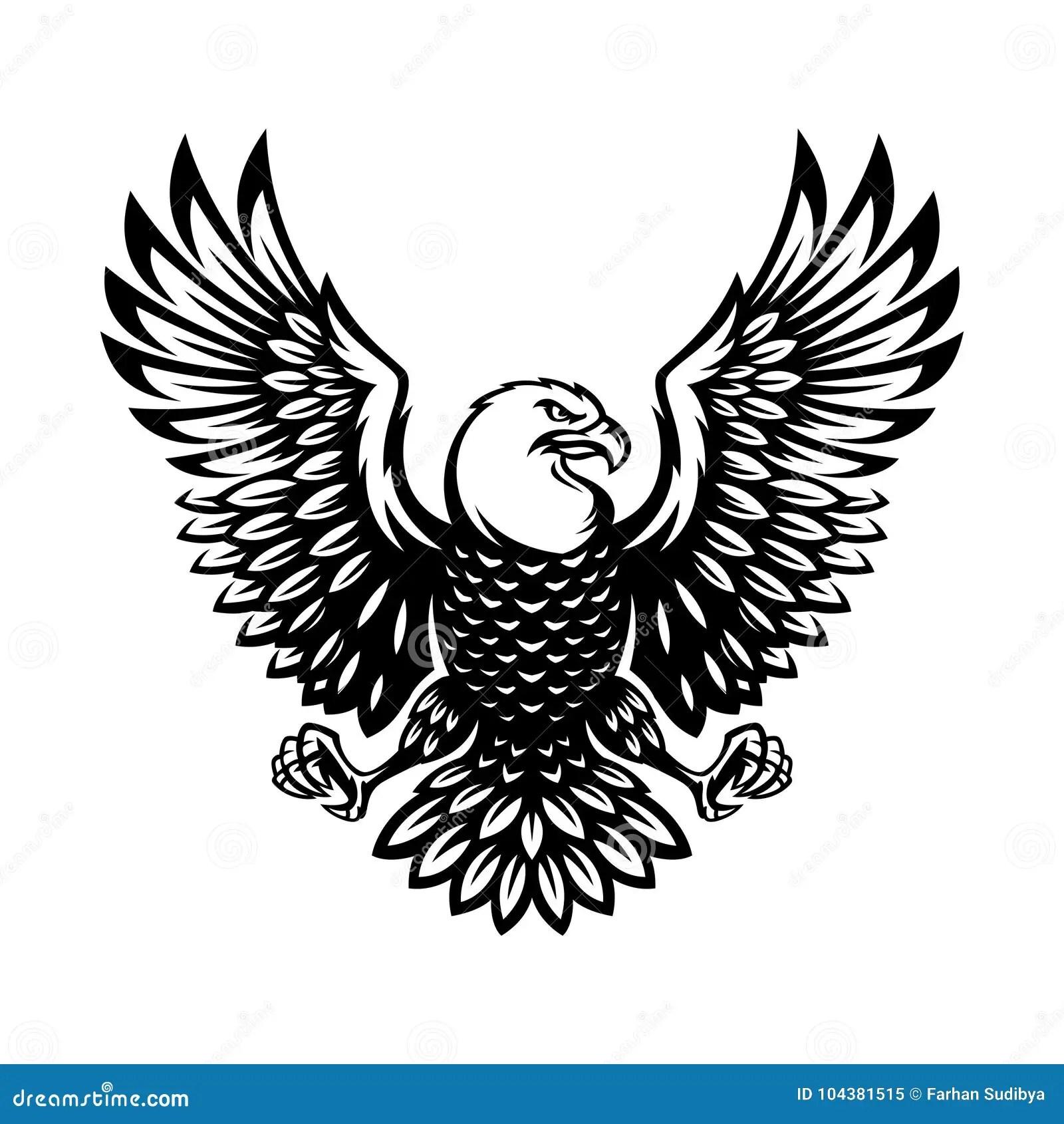 Monochrome Eagle Stock Illustrations 853 Monochrome