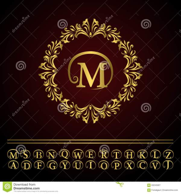 Monogram Design Elements Graceful Template. Elegant Line
