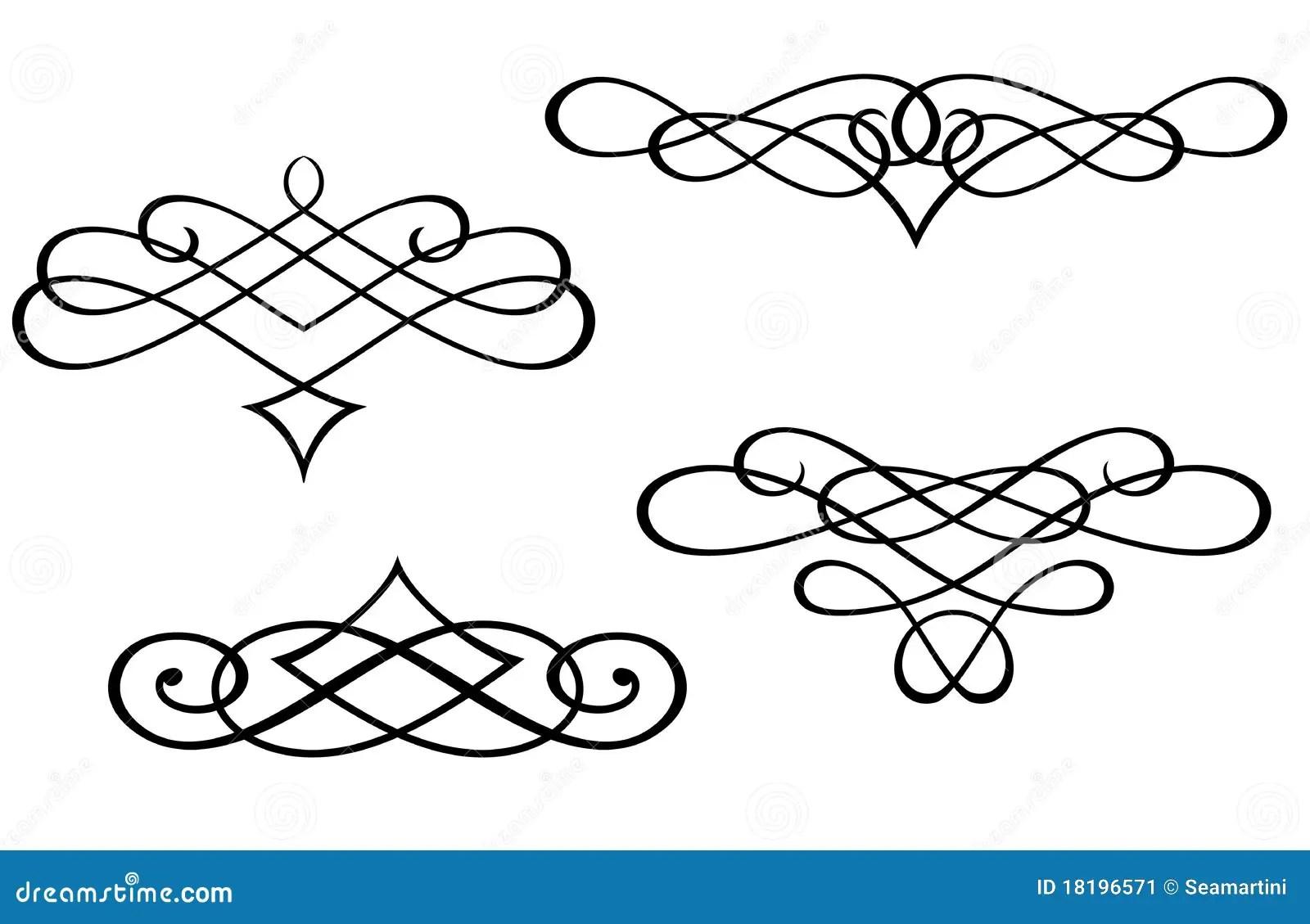 Monograms And Swirl Elements Stock Image