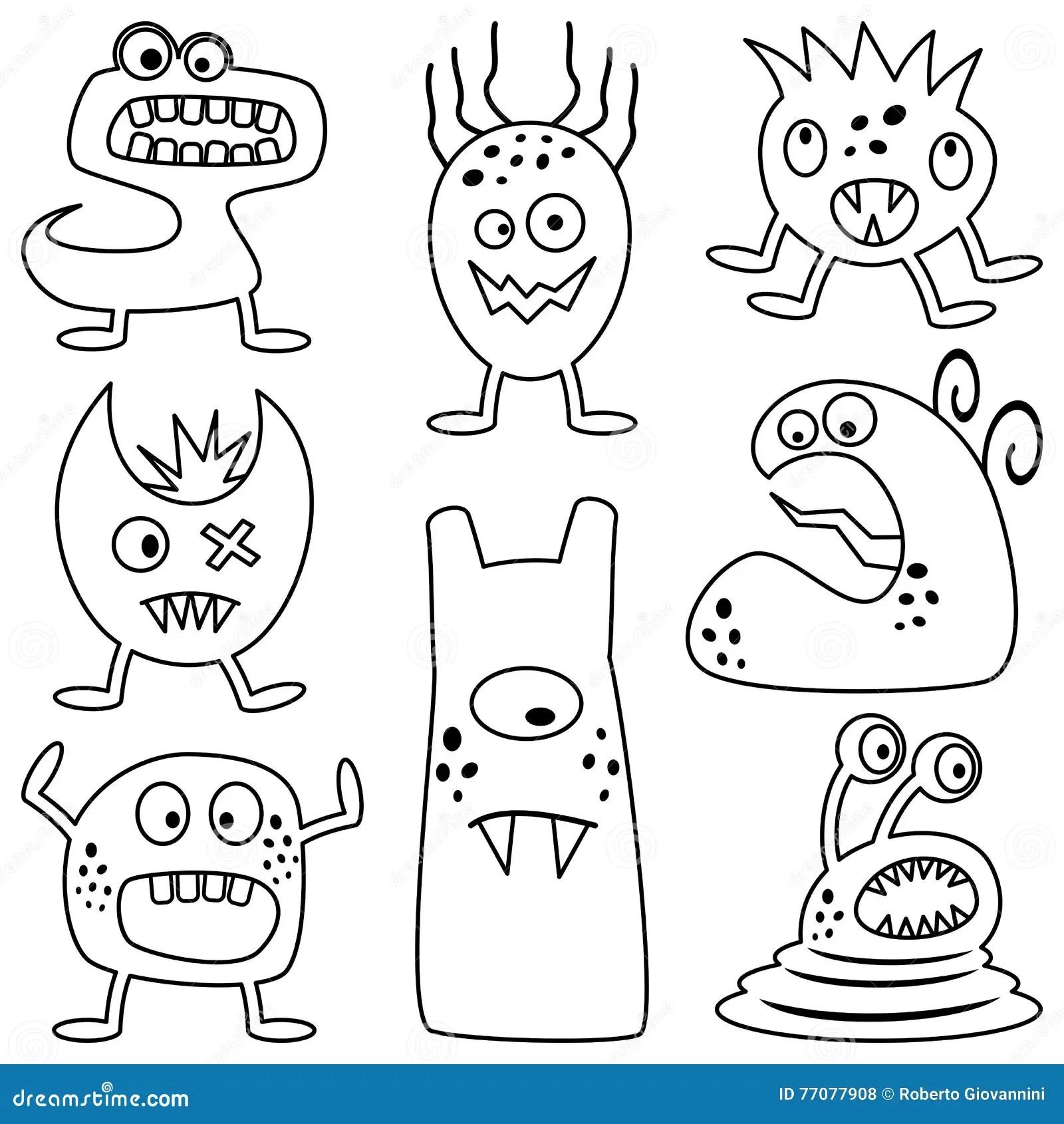 Monstruos De Halloween Del Colorante Para Los Ninos Ilustracion Del Vector