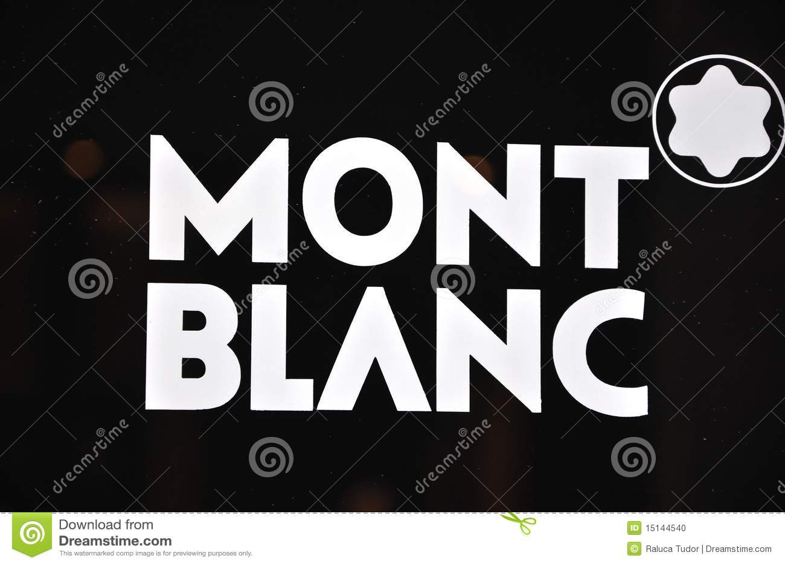 Mont Blanc Brand Logo Editorial Image Illustration Of