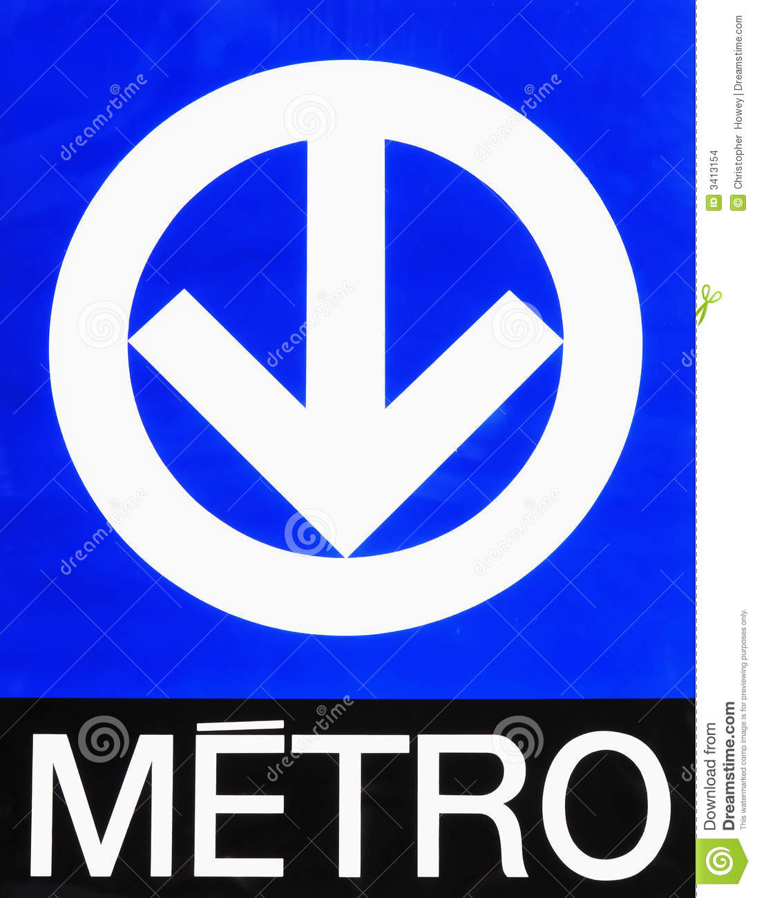 Montreal Metro Subway Sign Stock Images Image 3413154