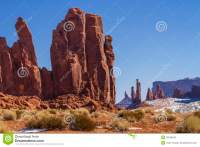 Monument Valley Red Rock Pillars Stock Photography - Image ...