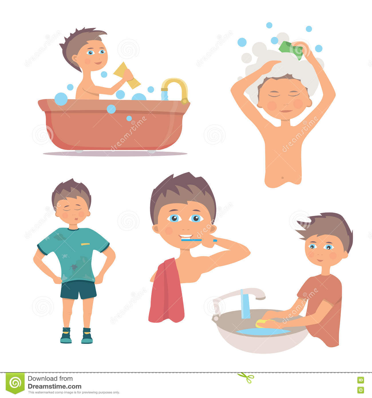Morning Personal Hygiene And Hands Washing Procedure