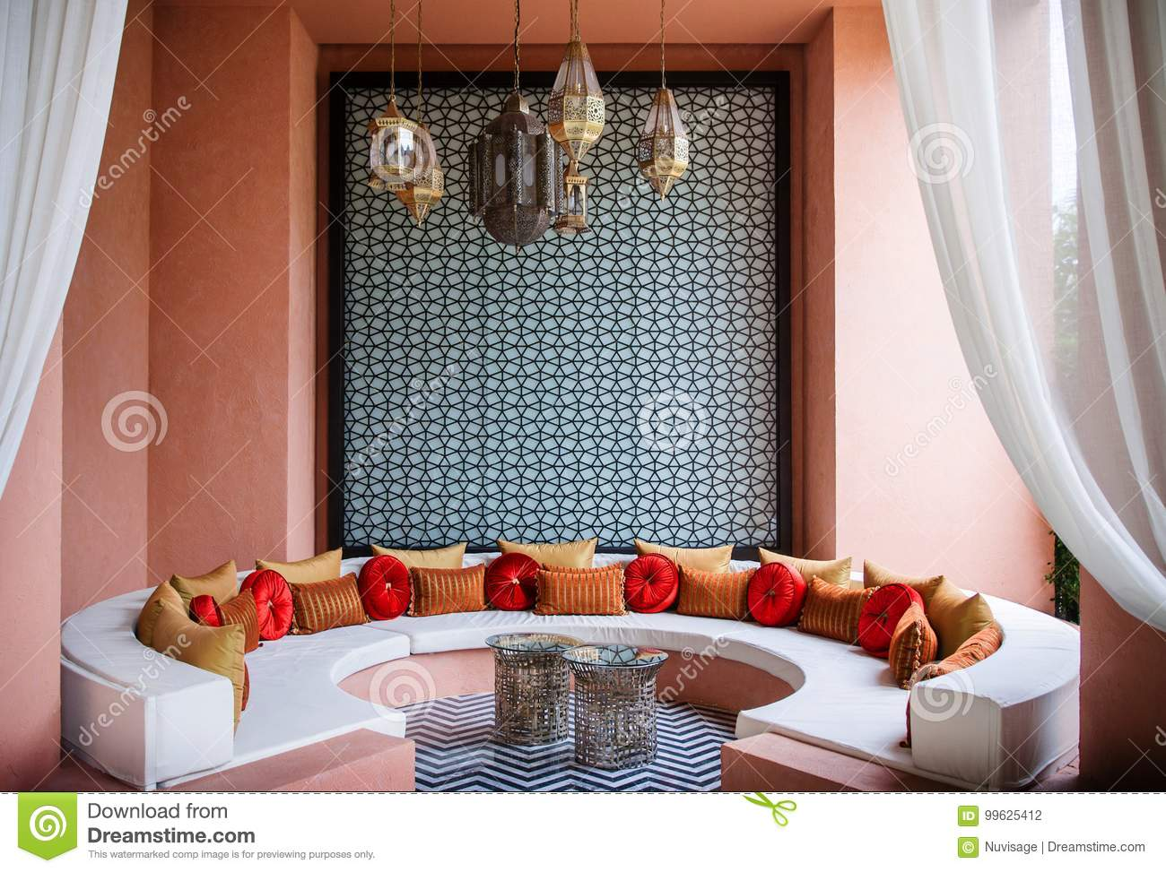 moroccan style living room decor pictures of design rooms decoration editorial june 8 2012 hua hin thailand details with colorful fabric and exquisite lamps