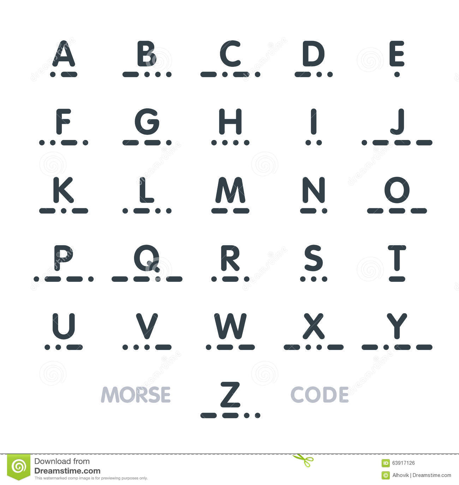 Morse Code Alphabet Stock Vector Illustration Of Mark