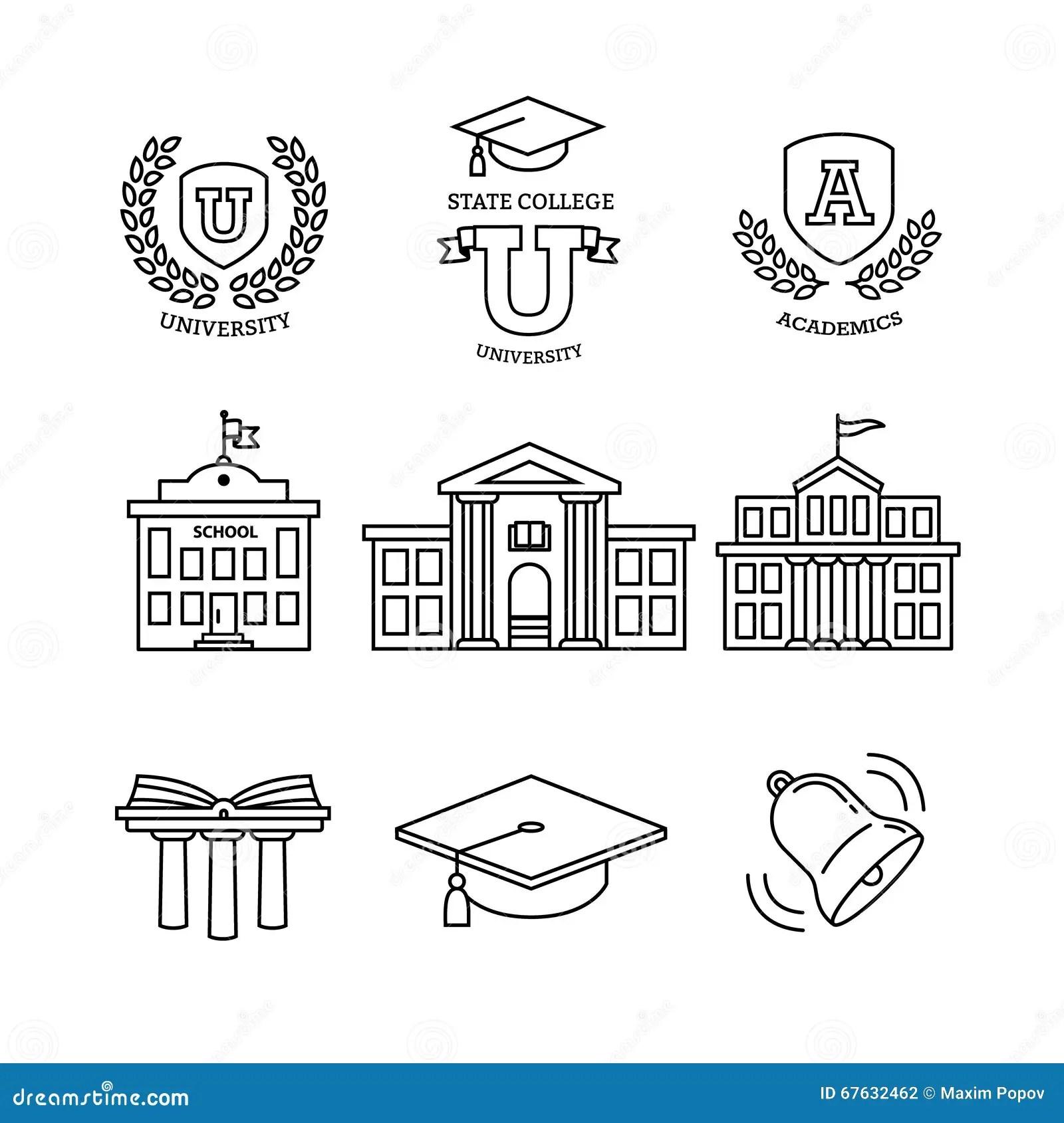 Mortar Board, Education, School And University Stock