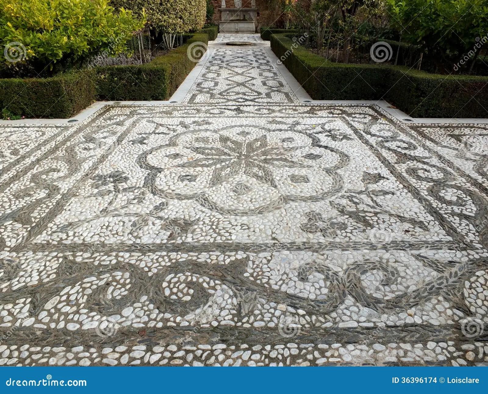 Alhambra Mosaic Garden Path Stock Photo  Image 36396174
