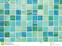 Mosaic Tiles In Green Turquoise Blue Stock Photo - Image ...