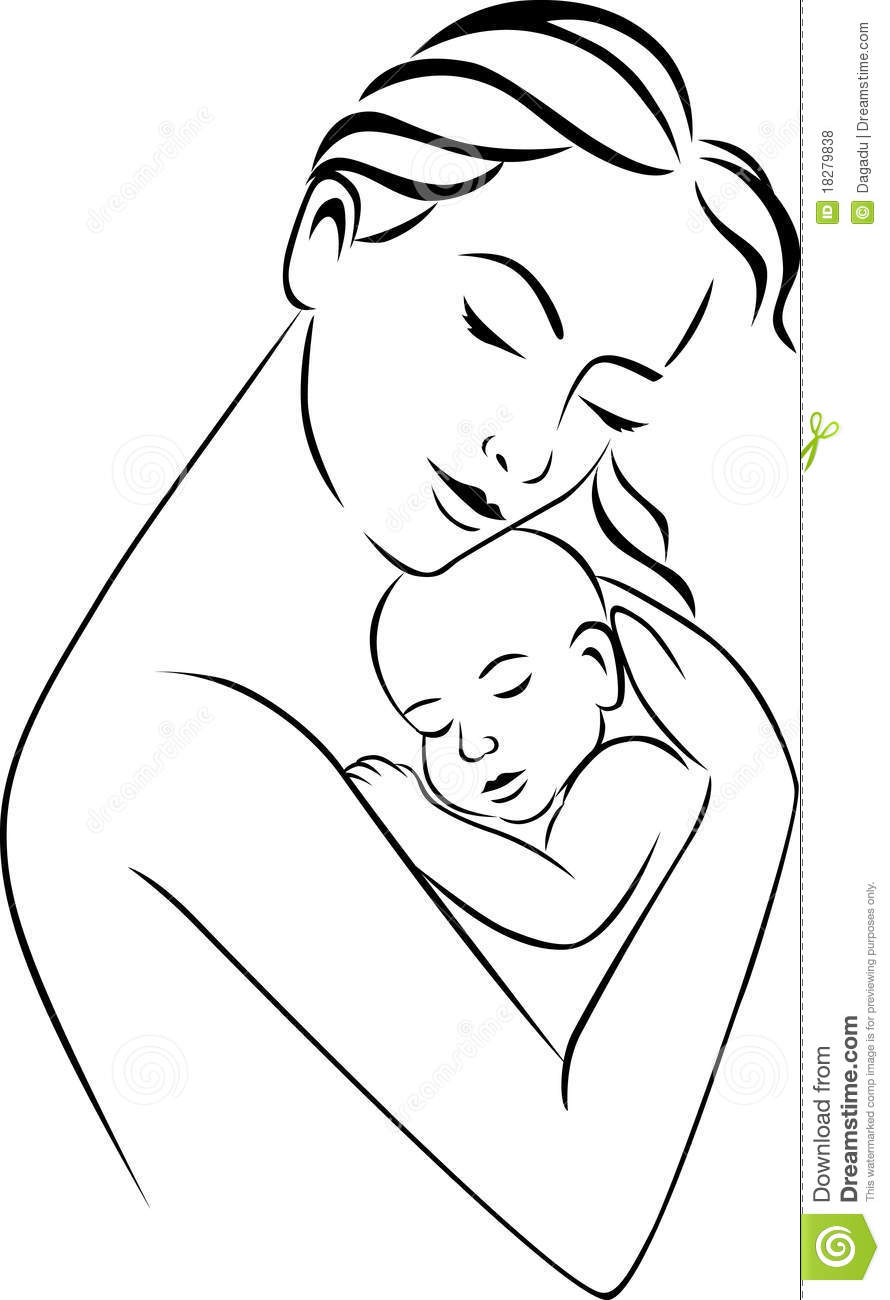 Mother and baby stock vector. Illustration of motherhood