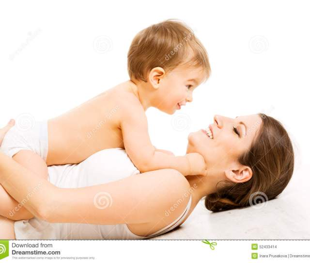 Mother Baby Love Happy Mom With Kid Boy Child And Family