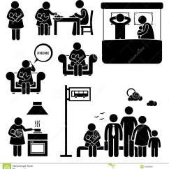 Infant Feeding Chair Icomfort Ic1124 Therapeutic Massage Mother Woman Breastfeeding Baby Cliparts Stock Vector - Image: 52688809