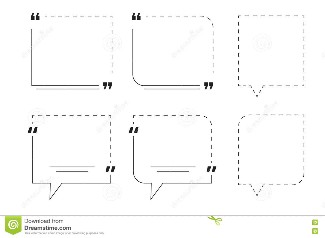 Motivation Quote Box Template With Editable Outline Stroke