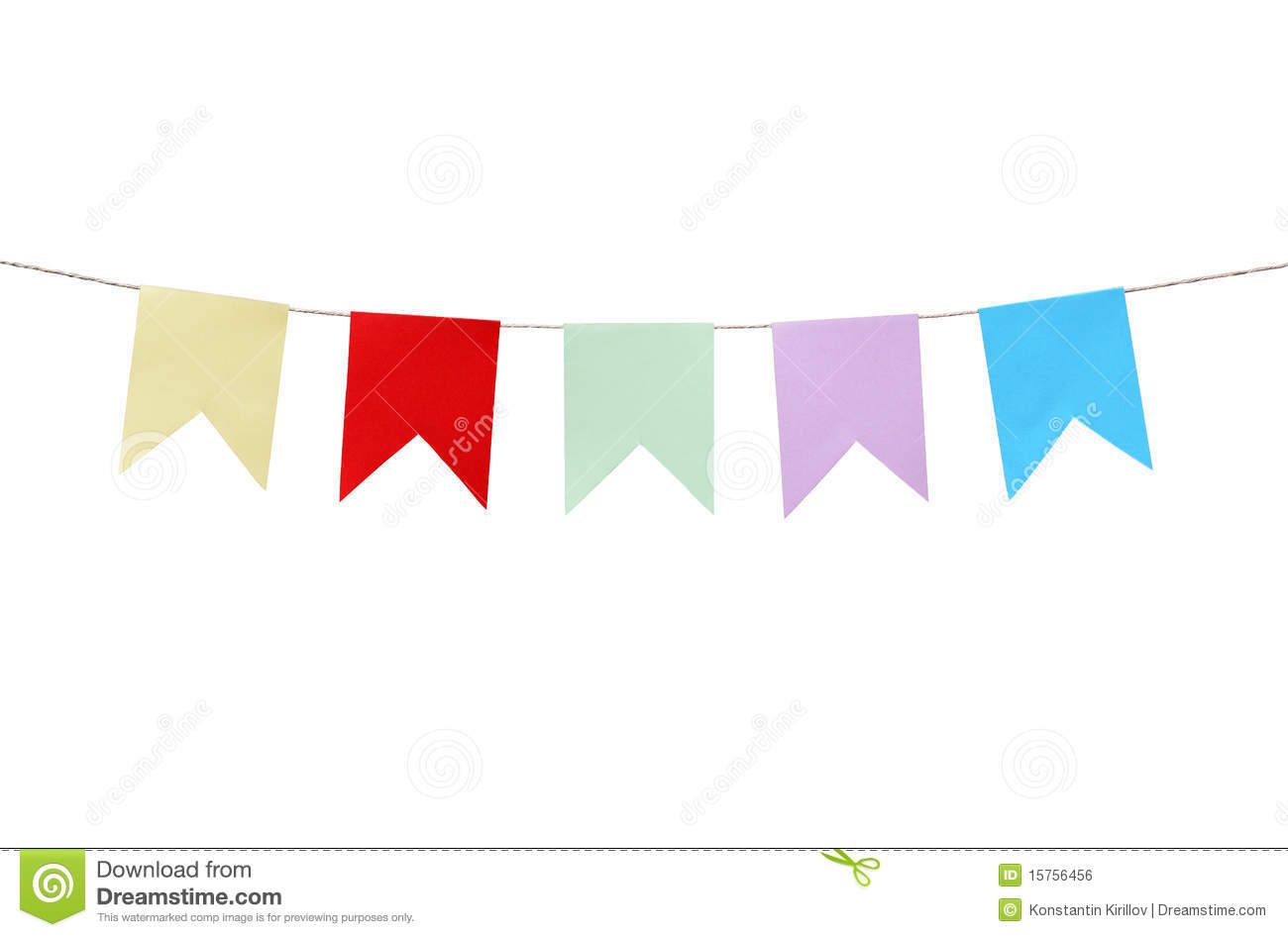 hanging chair rope pvc pipe motley paper flags royalty free stock image - image: 15756456