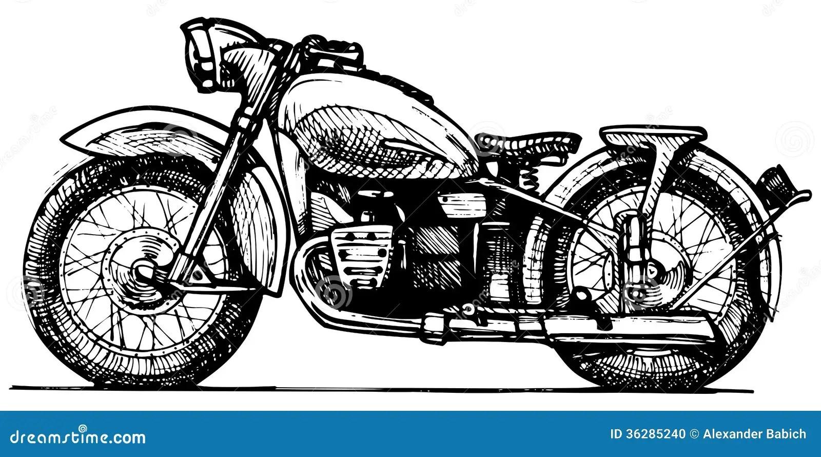 Moto. illustration de vecteur. Illustration du transport