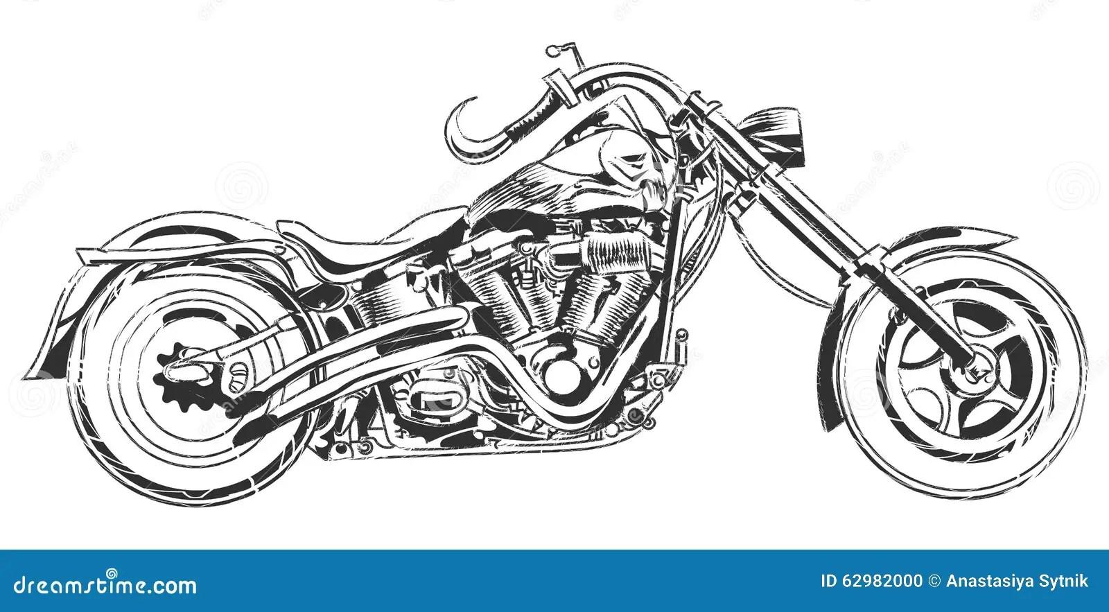 Motociclisti Di Vettore Motociclo Di Vettore Del Disegno