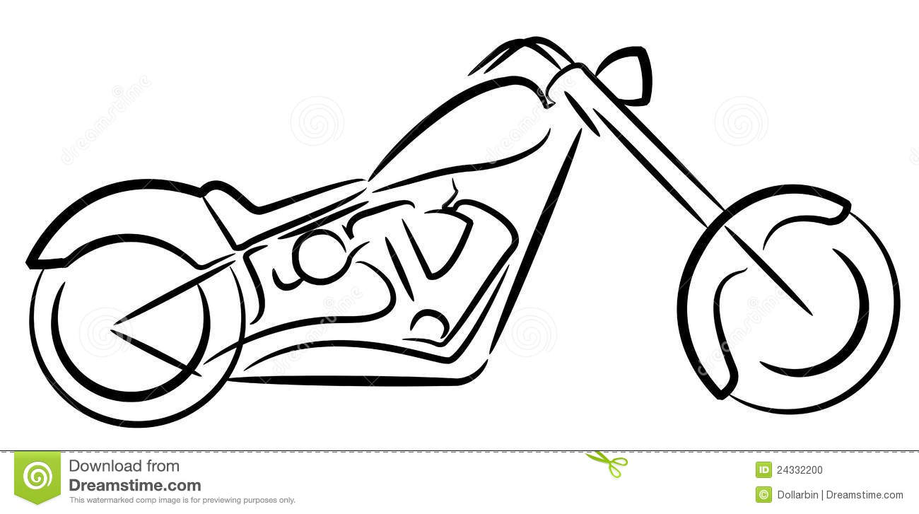 Motor cycle logo stock vector. Illustration of cruiser