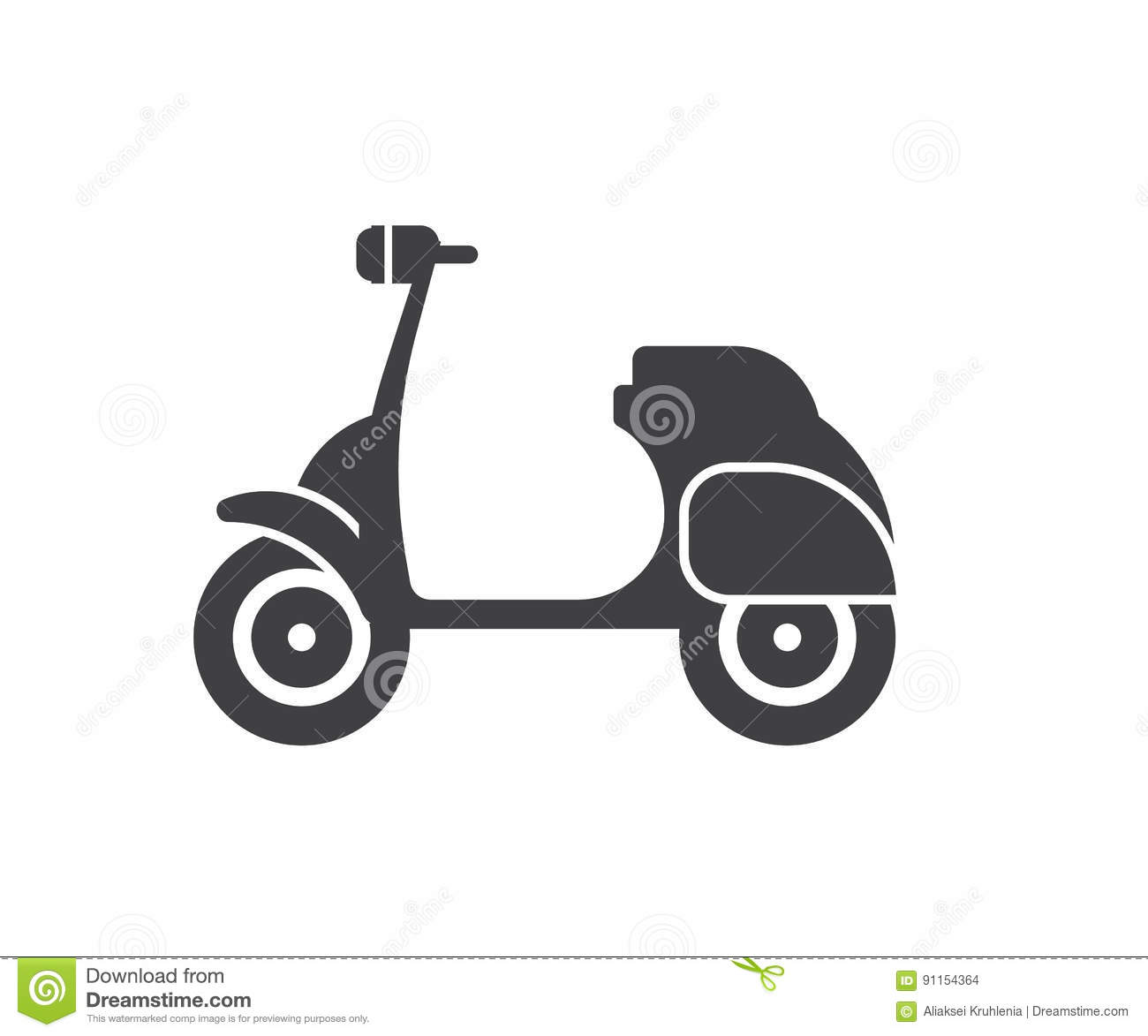 Motor Scooter Icon Stock Vector Illustration Of