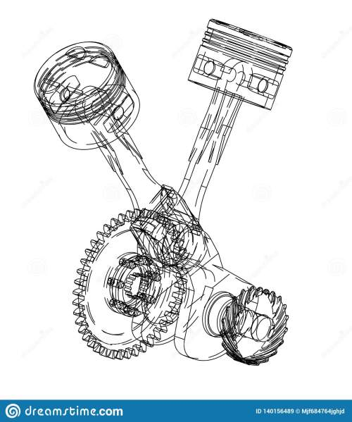 small resolution of motorcycle engine on a white