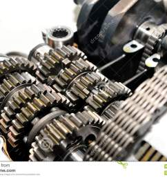 motorcycle gearbox with clutch in front  [ 1300 x 954 Pixel ]