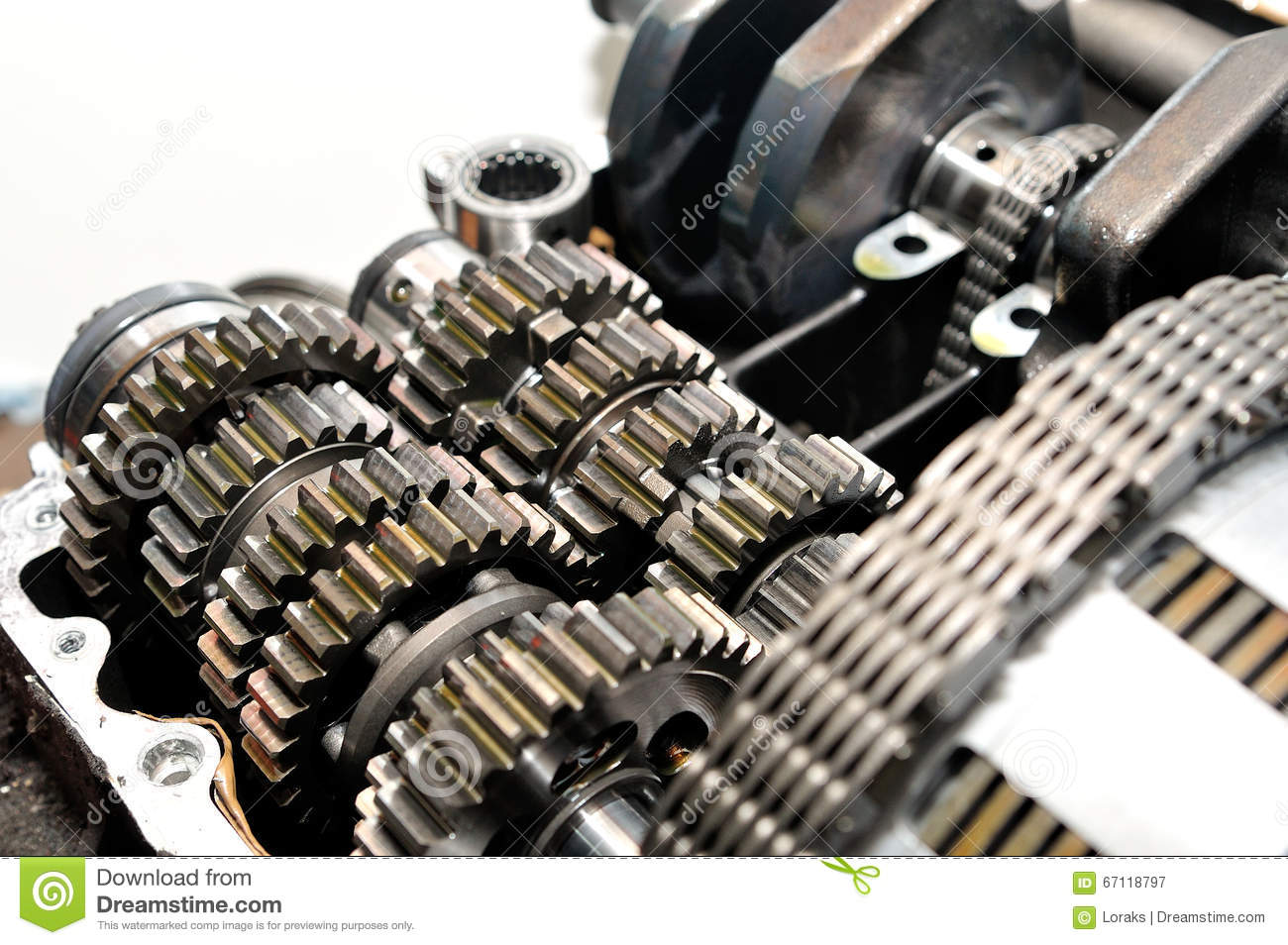 hight resolution of motorcycle gearbox with clutch in front