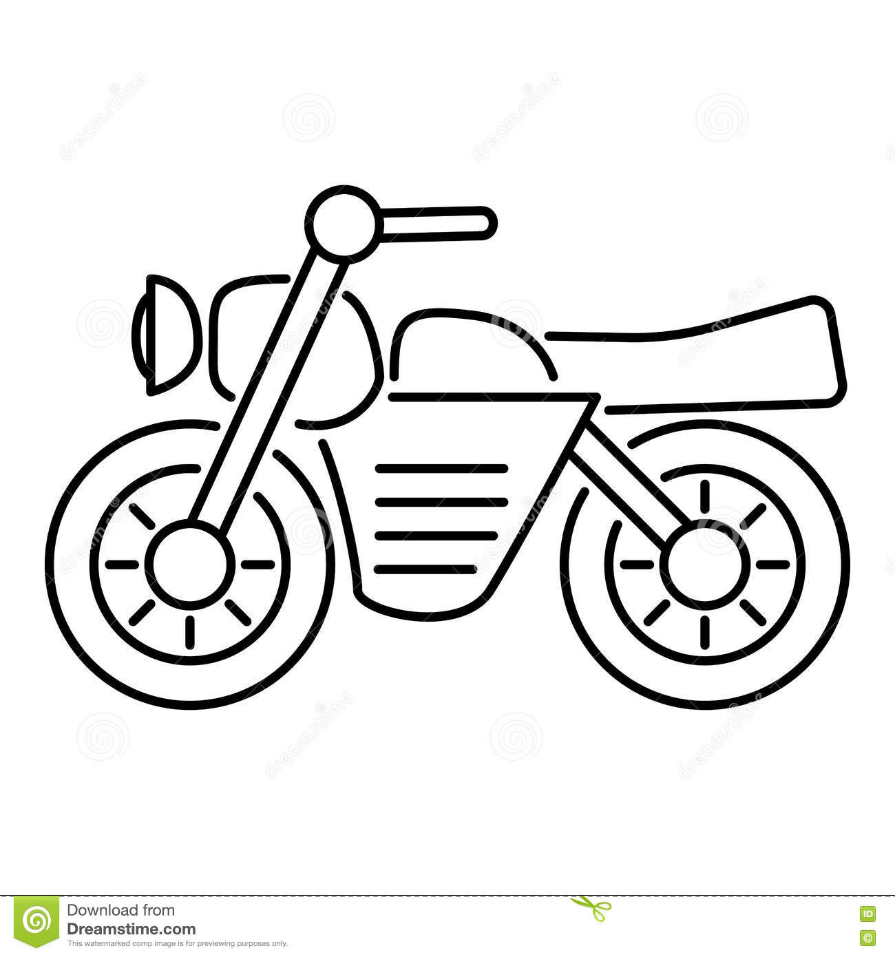 Motorcycle Icon Outline Style Stock Vector
