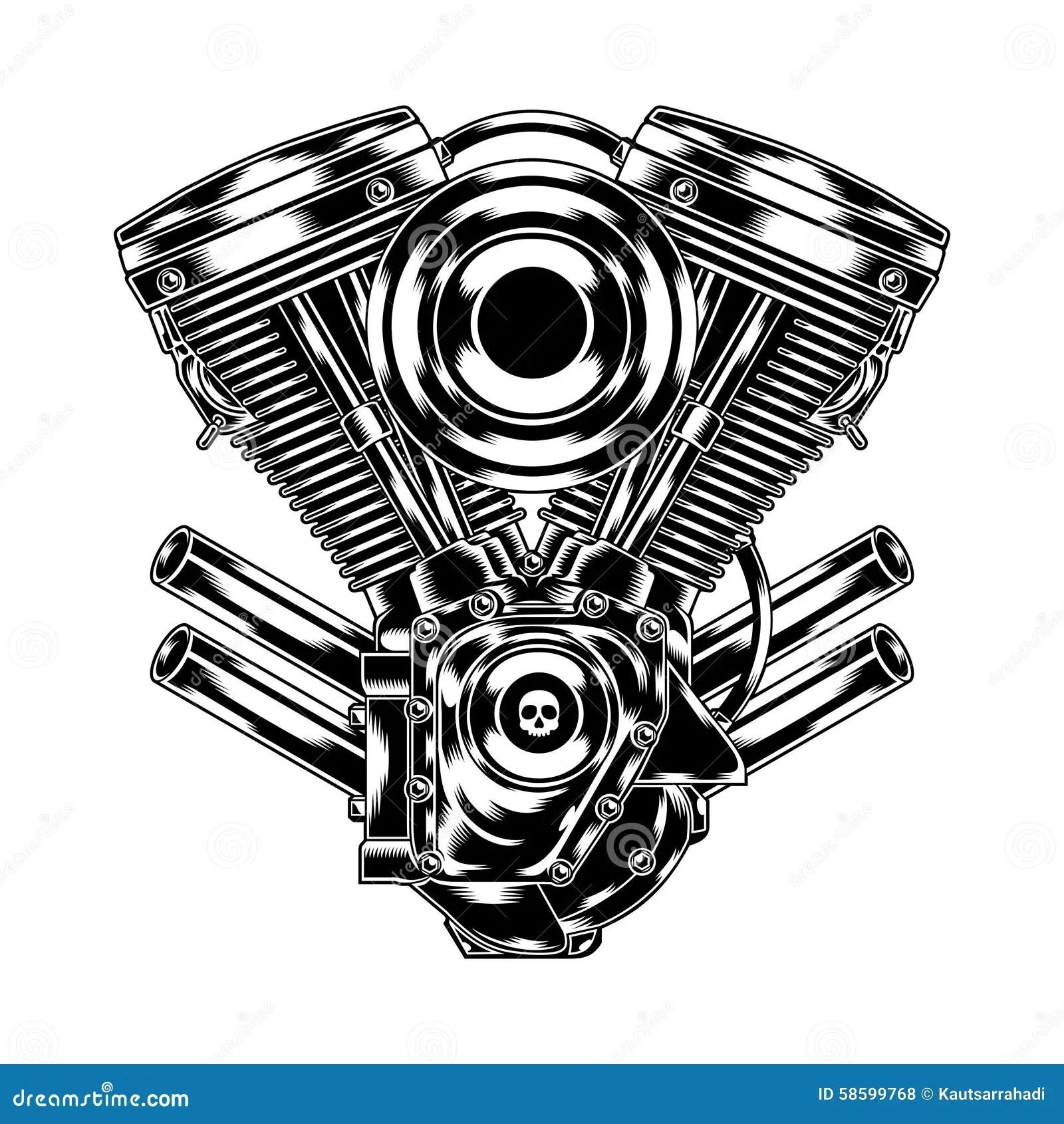 Motore Del Motociclo Illustrazione Vettoriale