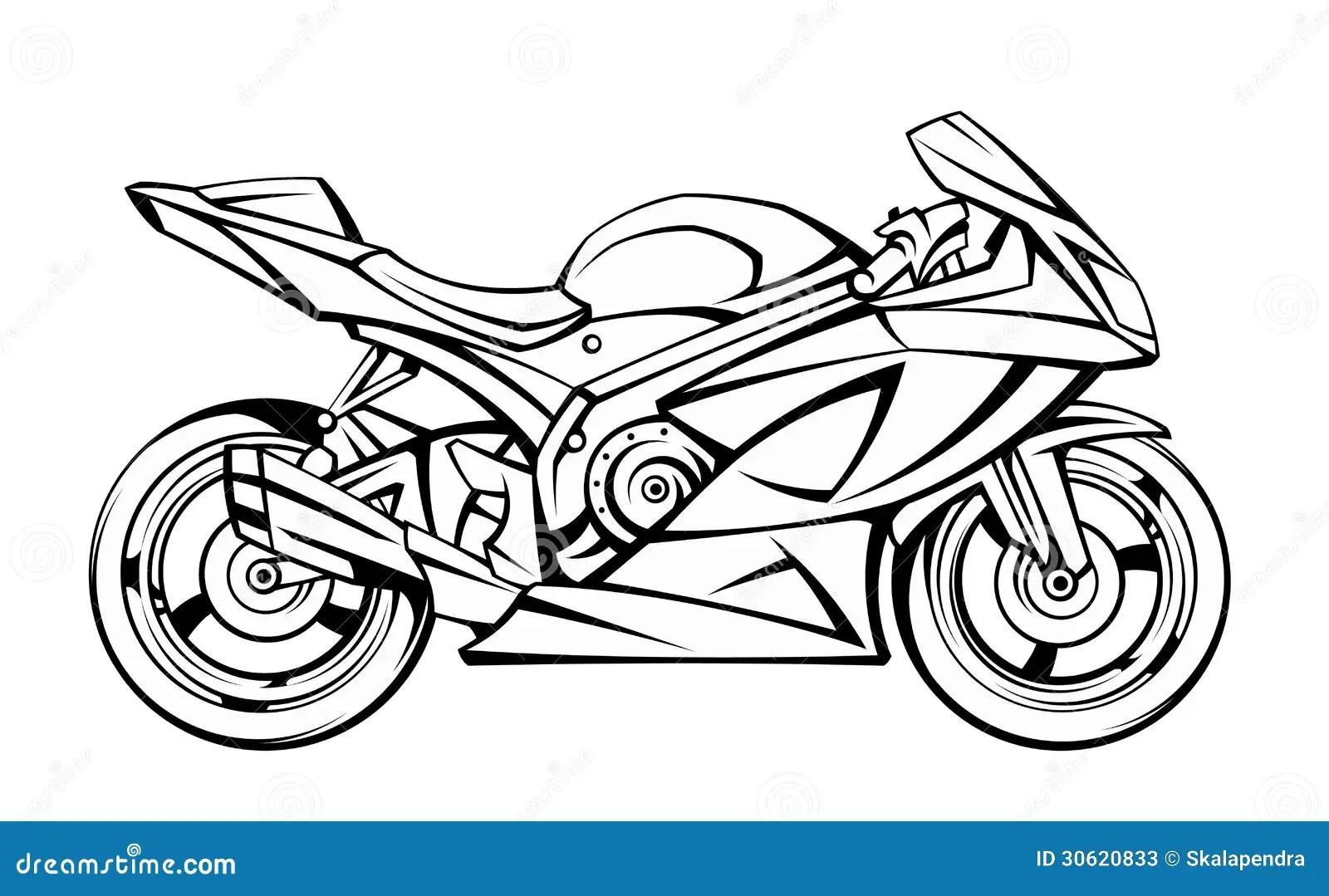 Motorrad Vektor Abbildung Illustration Von Leistungsfahig