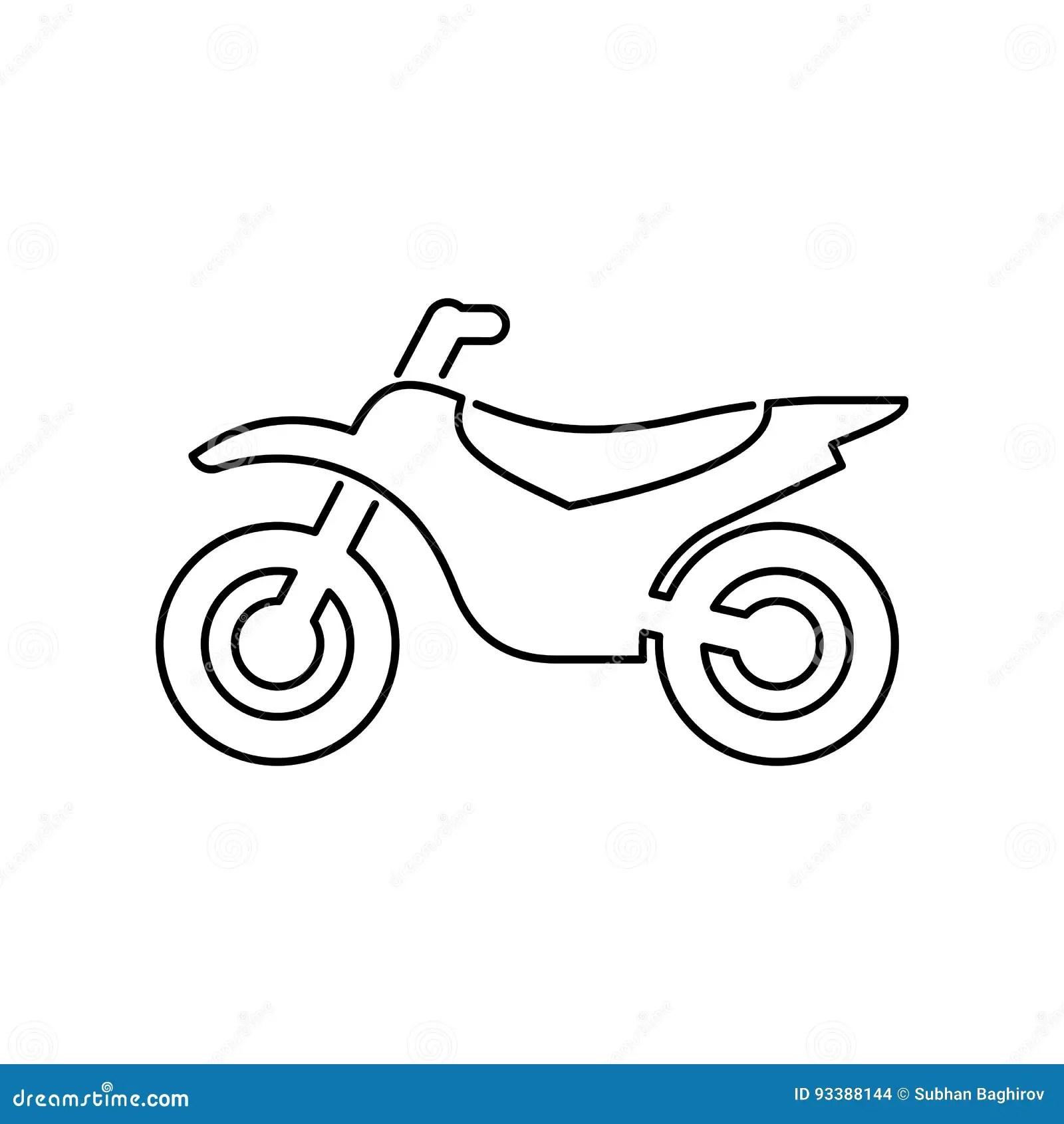 Motorrad, Einfache Flache Vektorillustration Der ...