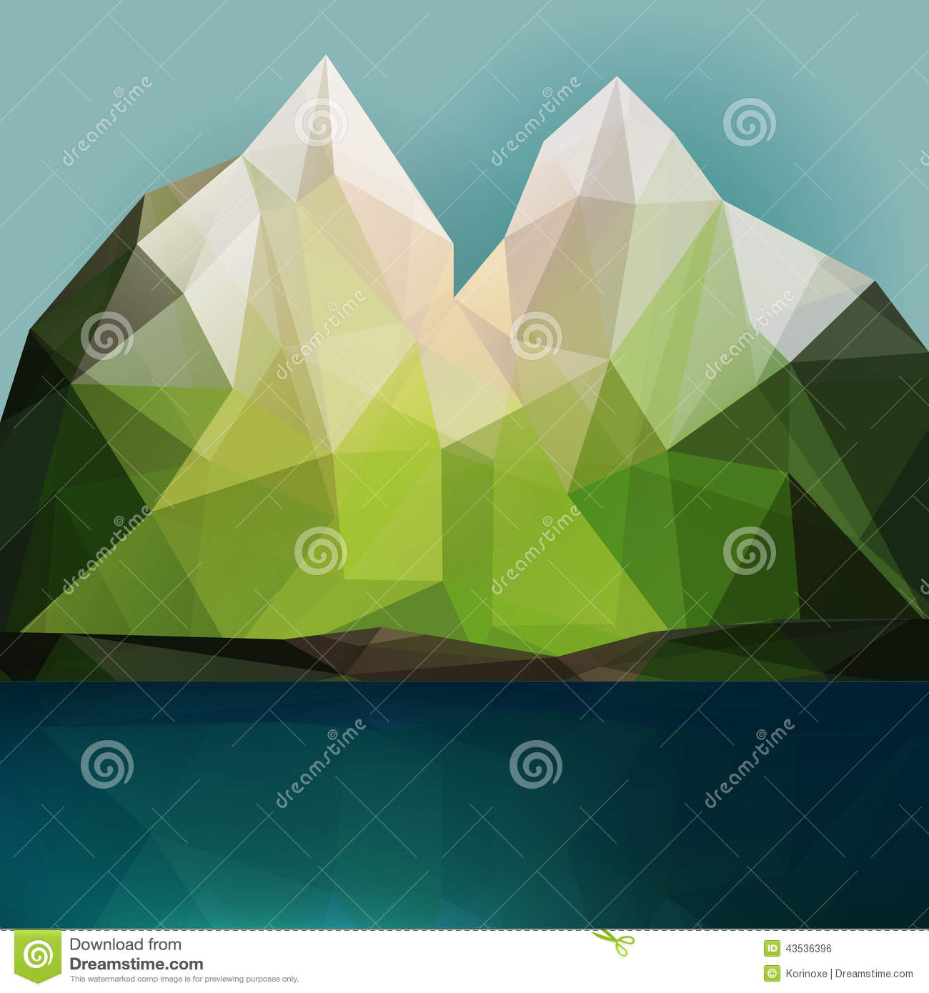 Mountain And Lake Stock Vector  Image 43536396