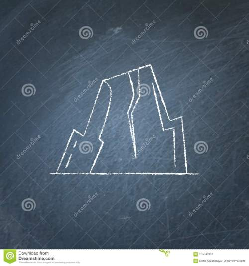 small resolution of mountain with ledges icon on chalkboard rock with plateau symbol