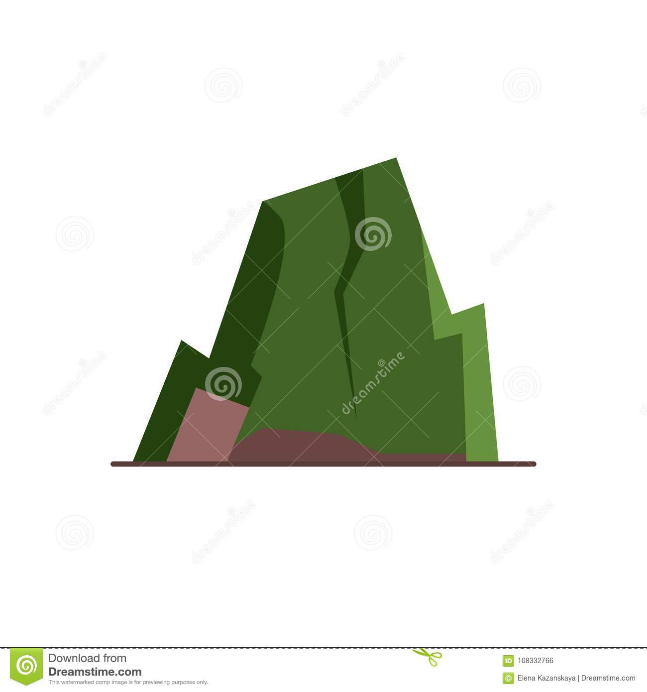 hight resolution of mountain with ledges icon in flat style rock with plateau symbol isolated on white background