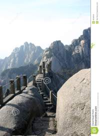 Mountain stairway stock image. Image of trail, steep ...