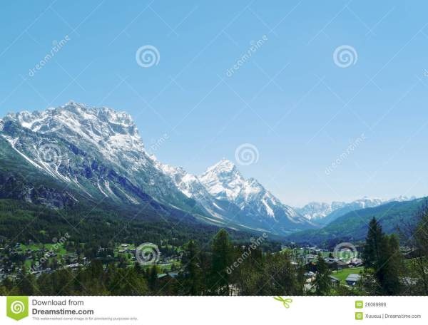 Mountain And Valley Landscape Stock - Of Cortina Scenic 26089886