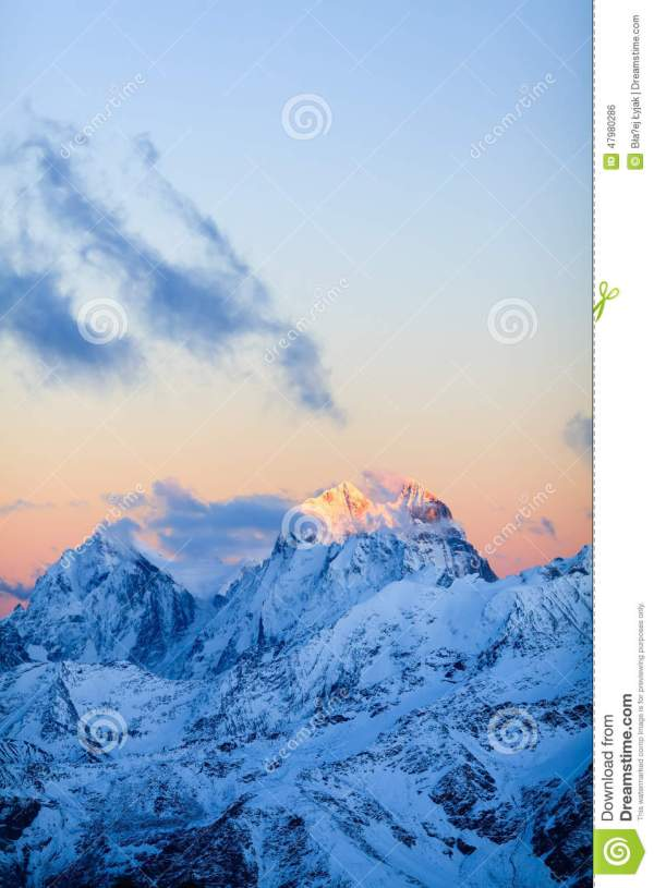 Mountains Landscape Ushba Caucasus In Russia Stock - Of Mount Mountaineering 47980286