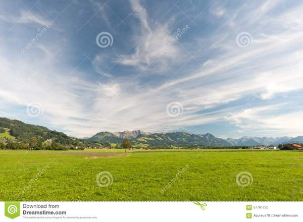 mountains in southern germany stock